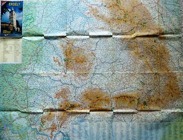 Erdély térkép 1993