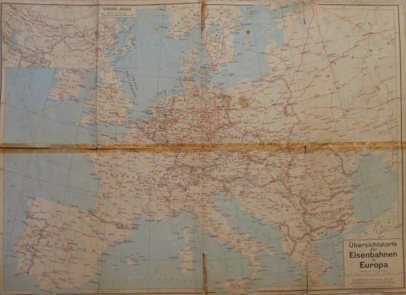 Európa vasút áttekintő térkép