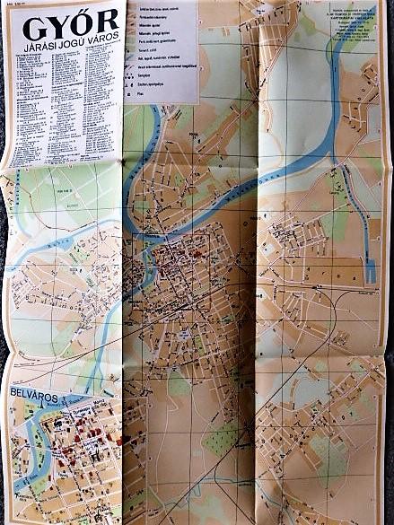 Győr Járási Jogú Város 1964 régi térkép