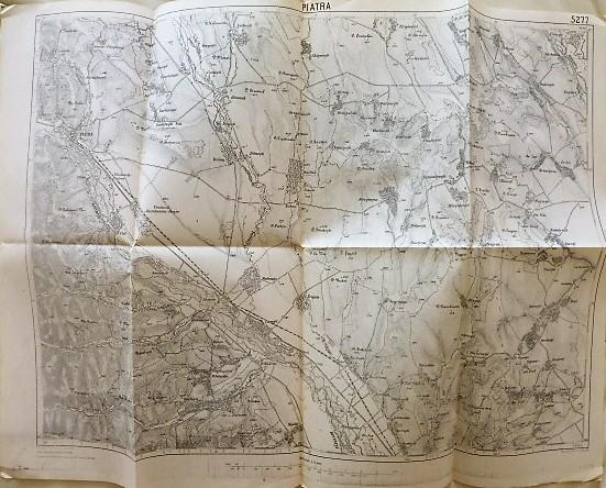 Karácsonkő környéke Erdély régi térkép 1915