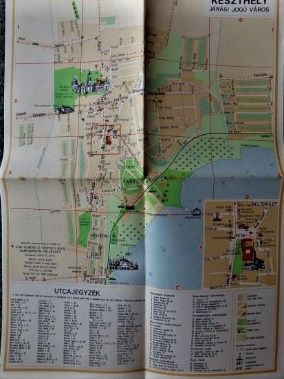 Keszthely Járási Jogú Város 1964 régi térkép