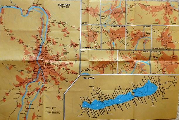 Magyarország Vasút térkép 1991