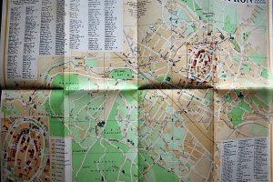 Sopron Járási Jogú Város 1964 régi térkép