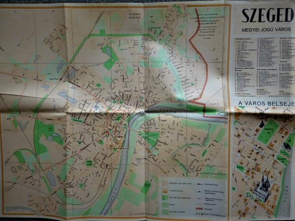Szeged Megyei Jogu Varos 1963 Regi Terkep Oregpenz