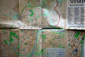 Szeged Megyei Jogú Város 1963 régi térkép