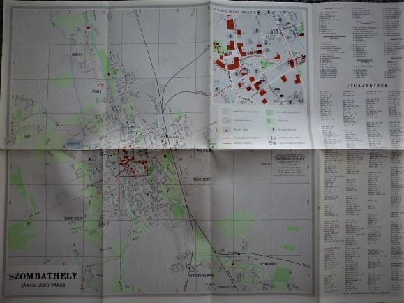 Szombathely Járási Jogú Város 1964 régi térkép