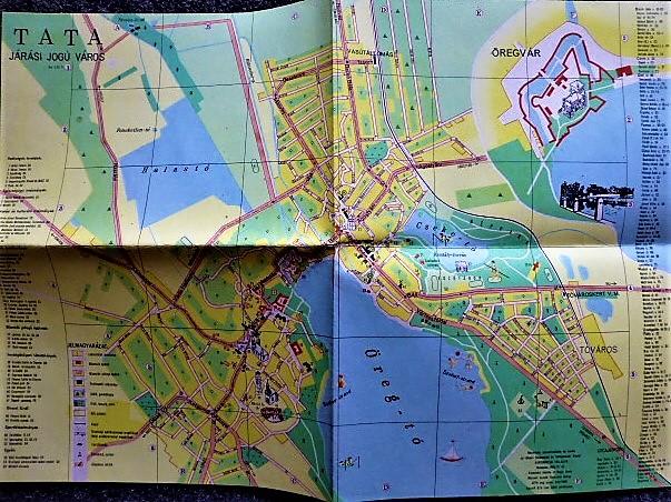 Tata Járási Jogú Város 1965 régi térkép