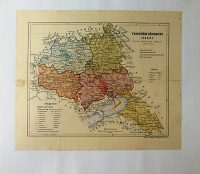 Veszprém Vármegye Térkép 1926 kasírozva