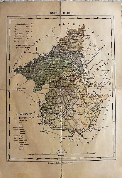 Borsod Megye régi térkép