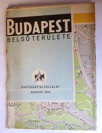 Budapest belső területe térkép 1956
