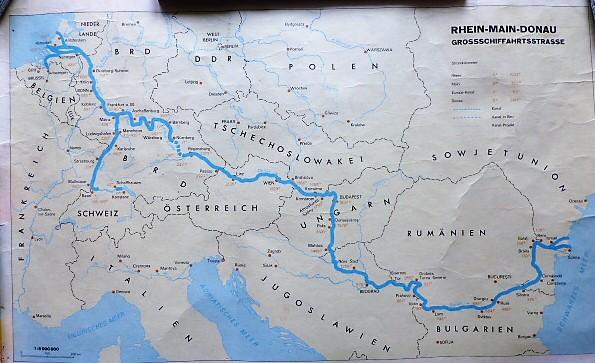 Duna Majna Rajna hajó térkép