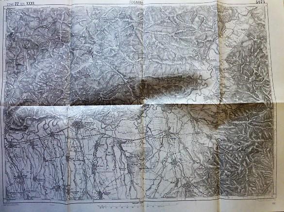 Fogaras Erdély térkép 1914