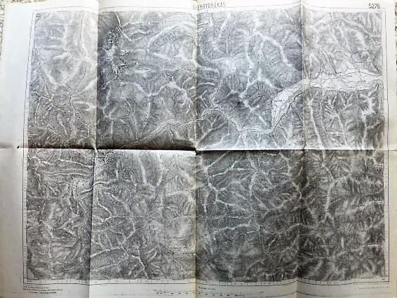 Gyergyóbékás Erdély régi térkép 1915