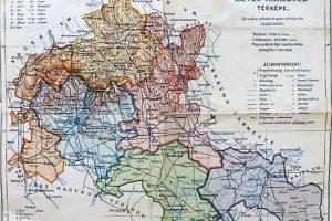 Heves Vármegye régi térkép 1922