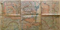 I. Világháború katonai térkép 1916