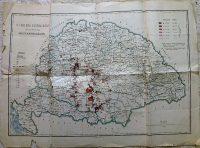 Kolera elterjedése Magyarországon 1892-93 régi térkép