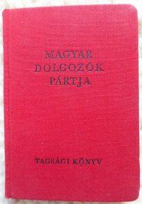 Magyar Dolgozók Pártja Tagsági Könyv 1953