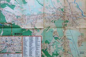 Miskolc Megyei Jogú Város térkép 1969