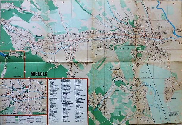 Miskolc Megyei Jogu Varos Terkep 1969 Oregpenz