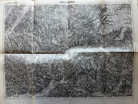 Székely Udvarhely Erdély térkép 1913