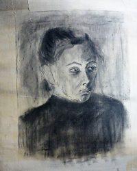 Éva portré grafika