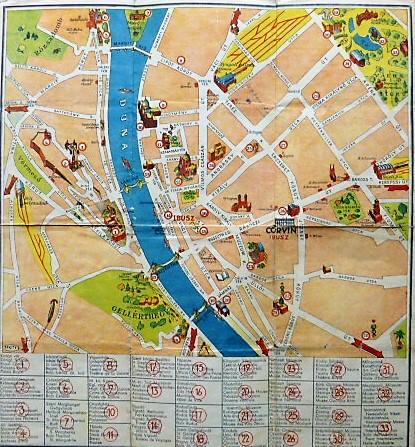 Budapest Belvaros Terkep 1930 As Evek Oregpenz