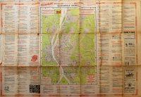 Budapest térkép 1904 reklámokkal