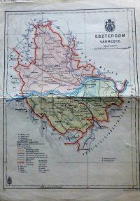 Esztergom Vármegye térkép 1941