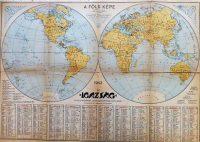 Föld térkép 1943 Igazság kiadás naptárral