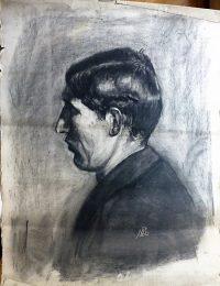 József profil grafika LB monogram
