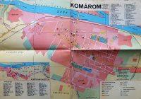 Komárom város térkép 1966