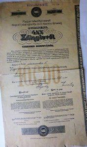 Magyar Takarékpénztárak Záloglevél 1910