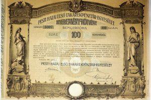 Pesti Hazai Első Takarékpénztár Nyereménykötvény 1906