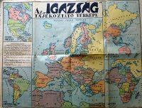 Világ térkép Igazság kiadás I. Bécsi döntés után