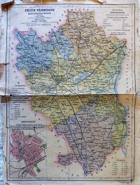 Fejér Vármegye Közigazgatási Térkép Czakó Tallián
