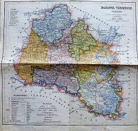 Baranya Vármegye Térkép 1927 Czakó
