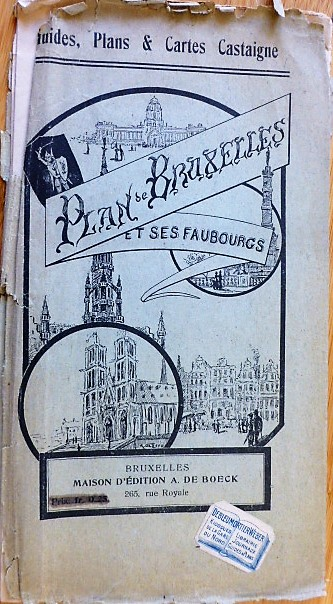 Brüsszel régi térkép 1930-40 es évek