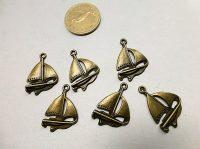 Hajó vitorlás medál bronz szín