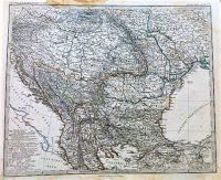 Magyarország Kelet-Európa térkép 1867 régi
