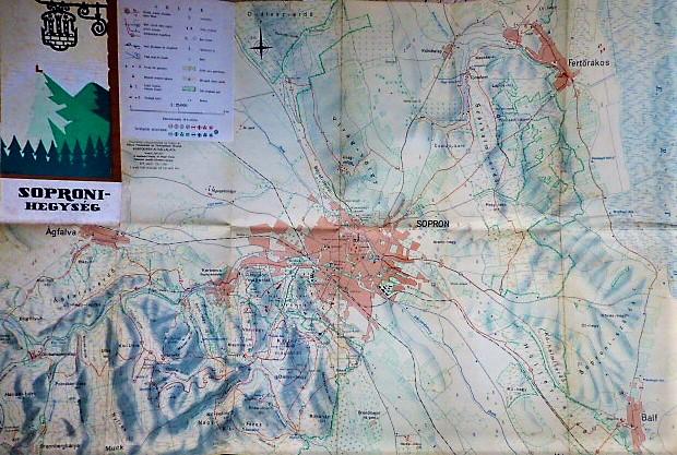 Soproni Hegység régi térkép
