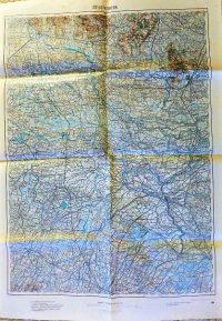 Verona Olaszország régi térkép 1915