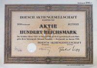 Hoesch német részvény 1943