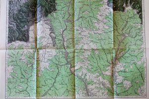 Sinaia Románia régi katonai térkép 1915