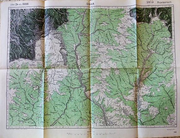 Sinaia Románia régi térkép 1915