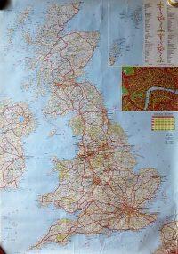Egyesült Királyság UK Anglia Britannia  térkép