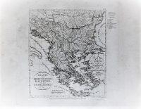 Görögország régi német térkép