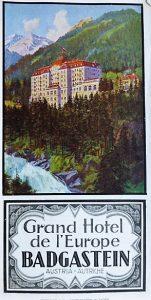Grand Hotel Badgastein Ausztria panoráma térkép