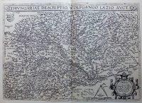 Magyarország régi térkép 1570 reprint