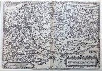 Magyarország régi térkép 1579 reprint
