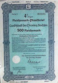 Német kötvény 500 Birodalmi Márka 1940
